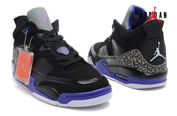 cd1bc70ad8d510 2013 Air Jordan Retro 3 Black Purple for Men