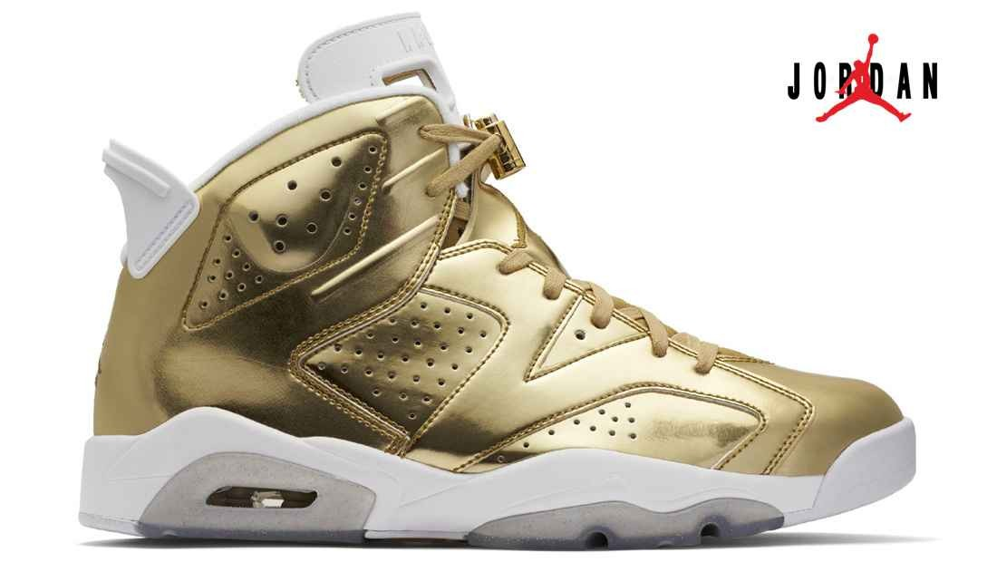 1964bfe613578d Air Jordan 6 Retro Pinnacle Metallic Gold White 854271-730 Designer