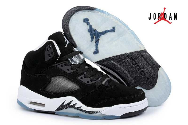 huge discount be260 0cfb1 Discount Air Jordan 5 Replica Shoes Retro Men Black/White