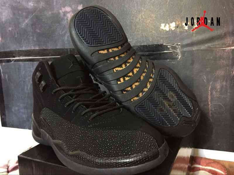 b0407e78cd0a Newest Black Air Jordan 12 OVO Shoes Retro Men Cheap
