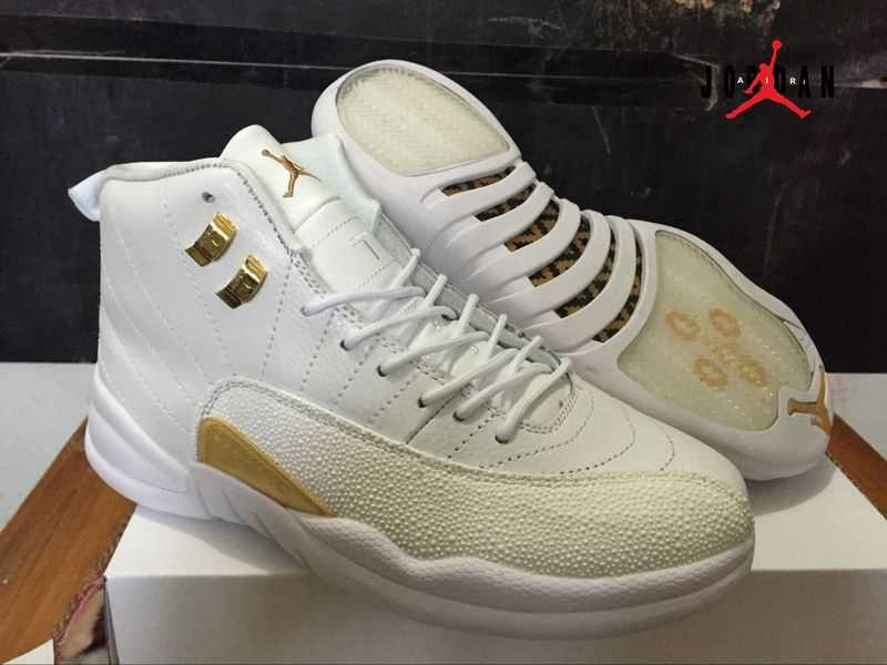 7de228e9d3ba Newest White Air Jordan 12 OVO Shoes Retro Men Cheap
