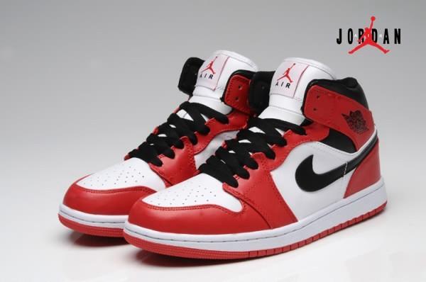38f81068f4bce4 Air Jordan 1 White Red Black for Men