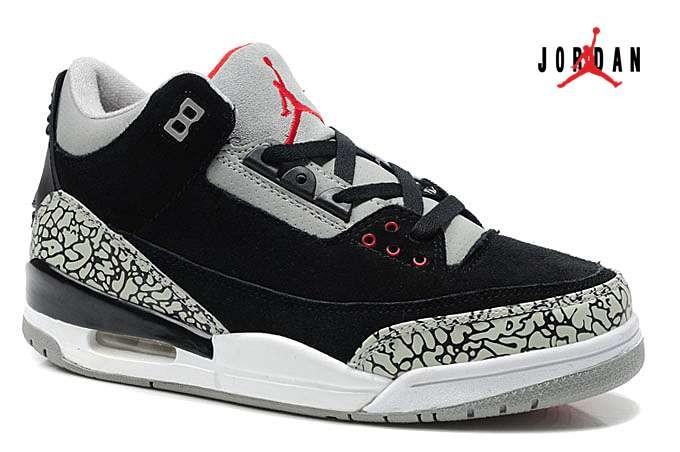f9544b6012ab Air Jordan 3   Jordan III Suede Grey Black Red Cement