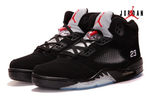 Air Jordan 5 V Retro Black Grey Red for Men