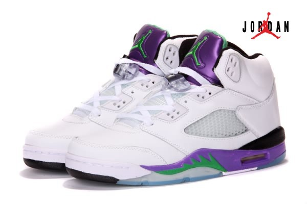72bb060ee20913 Air Jordan 5 V Retro White Purple for Men