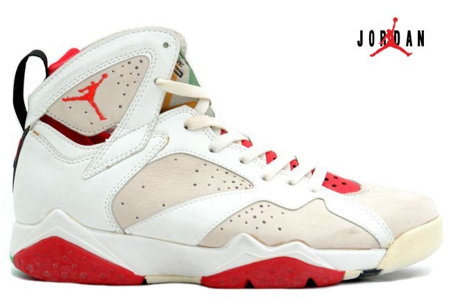 7caada68979c52 Air Jordan 7 Original (OG) Hare Jordan (White Light Silver True Red)