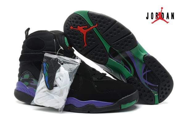 black and green jordan 8