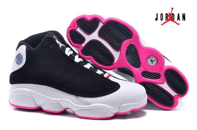 d27c3792241342 Air Jordan Retro 13 Fur for Women Black Pink