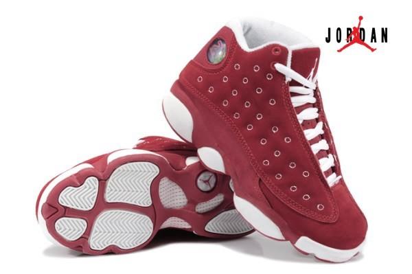 Air Jordan Retro 13 Fur for Women Red