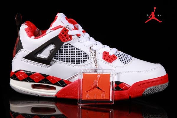 e6ee149f2ef5cd Air Jordan Retro 4 Free White Black Red for Men