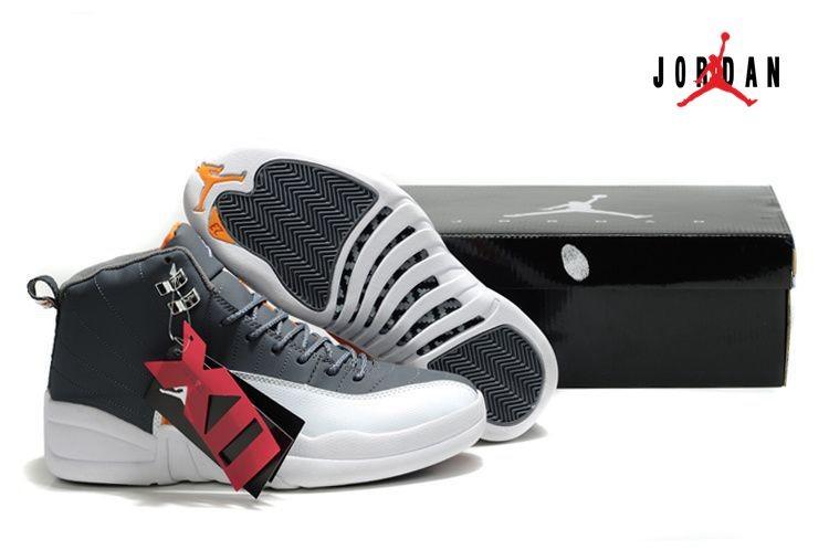 new style b60c5 f25bc New Air Jordan 12   Jordan xii Retro Cool Grey White Team Orange