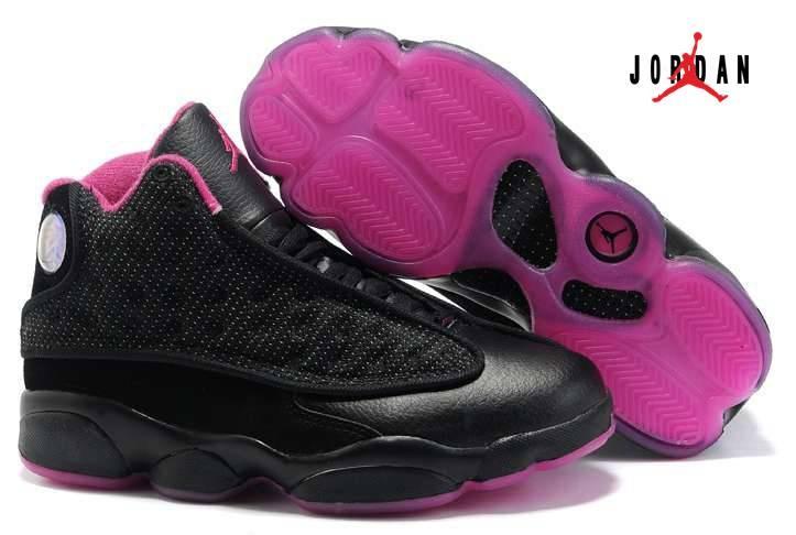 72629c9722e86a Women Air Jordan 13 Shoes Black Pink