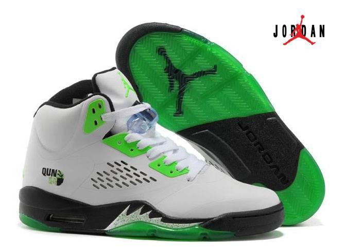 sale retailer 97d04 b4b30 Women Air Jordan 5 & Jordan V White Black Green