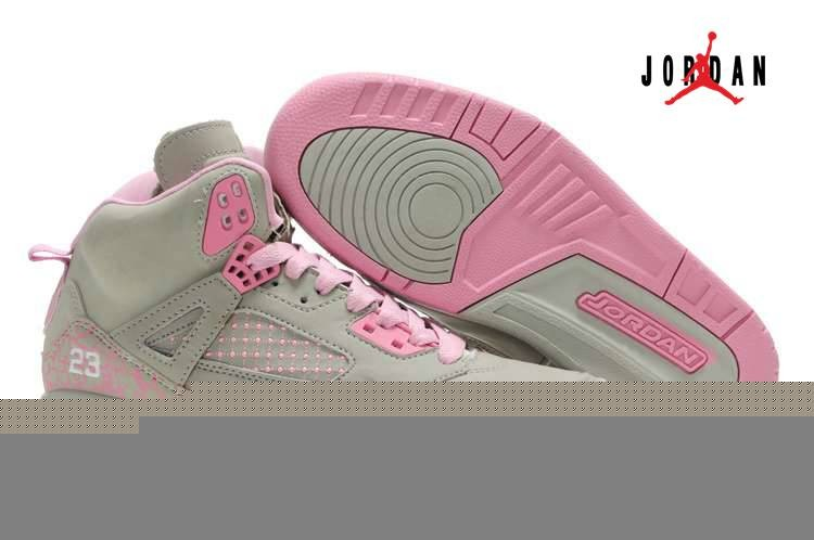 quite nice 14ac2 a4b1d Women Air Jordans 3.5 Embroidery Grey Pink