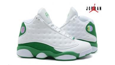 361e1adc1f3817 2013 Air Jordan 13 J13 Retro for Men White Green