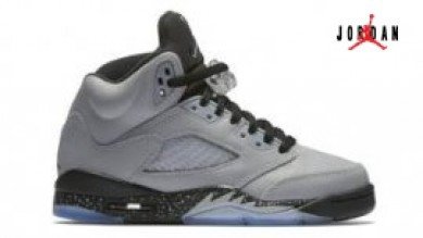 08d1c005da65f Air Jordan 5 Retro GS Wolf Grey Black 440892-008 Wholesale Quality