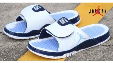 3b4f238e09c0 Air Jordan RCVR Slide Select Sandals Grey   Blue