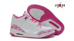 jordan 3 pink and white